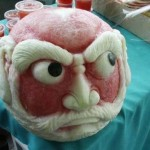 Bald Guy Watermelon Sculpting