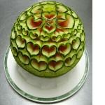Hearts Watermelon Sculpture