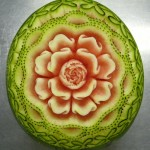 Rose Watermelon Sculpture