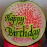 Happy Birthday Watermelon Sculpture