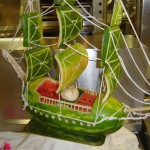 Ship Watermelon Sculpture