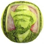 Van Gogh Watermelon Sculpture