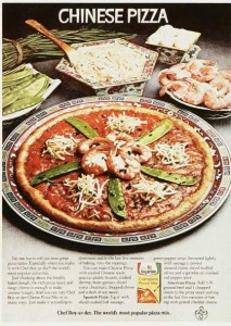 Asian Pizza Vintage Ad