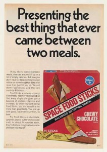 Space Food Sticks Vintage Ads
