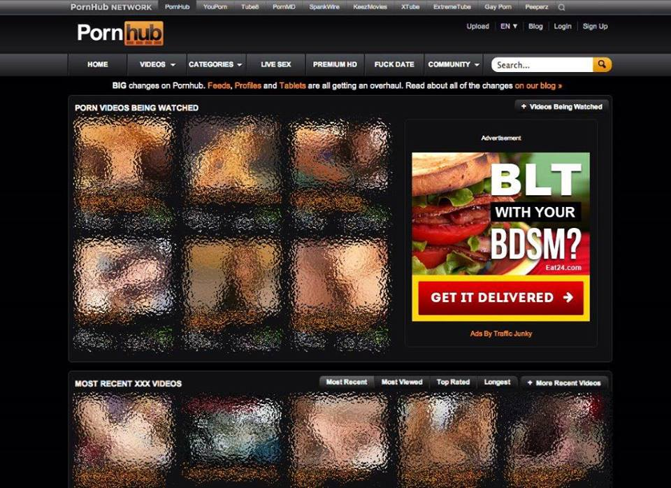 Eat24 porn banner ad on Pornhub