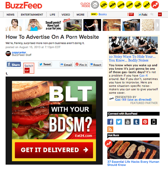 Buzzfeed - How to Advertise on a Porn Website
