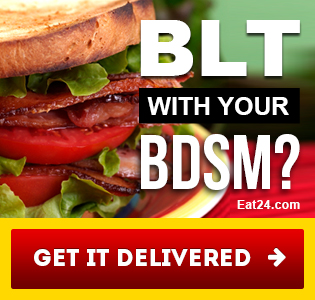 Eat24 porn banner ad - BLT with your BDSM