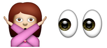 stop looking at me creepy emoji