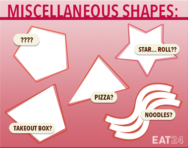 Foods in weird shapes.
