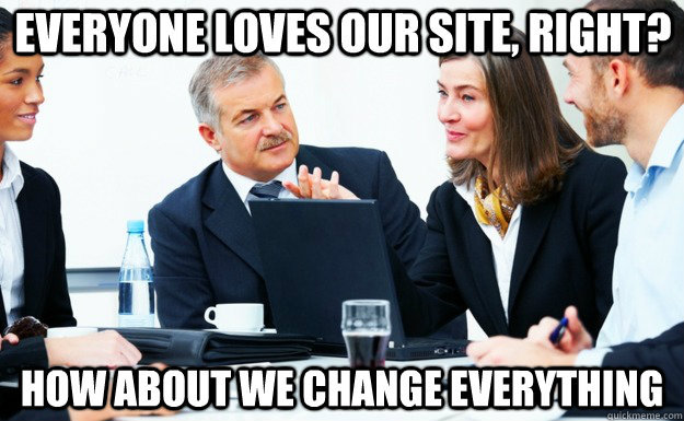 Site Redesign Meme