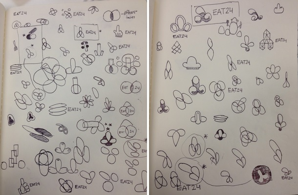 EAT24 new logo sketch brainstorm.