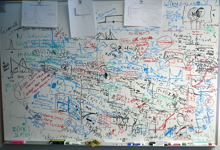 Messy white board