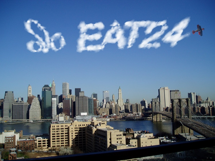 EAT24 new logo skywriting