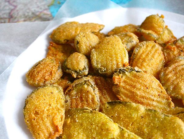 Picture of fried pickles.