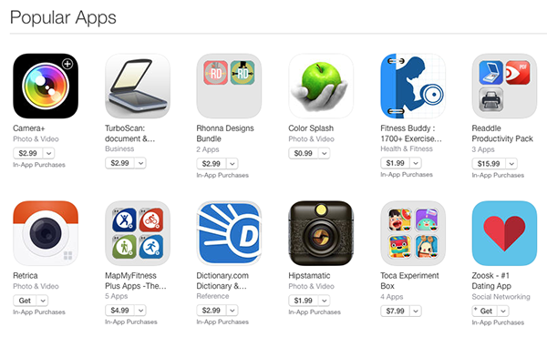 12 of the most popular iTunes apps
